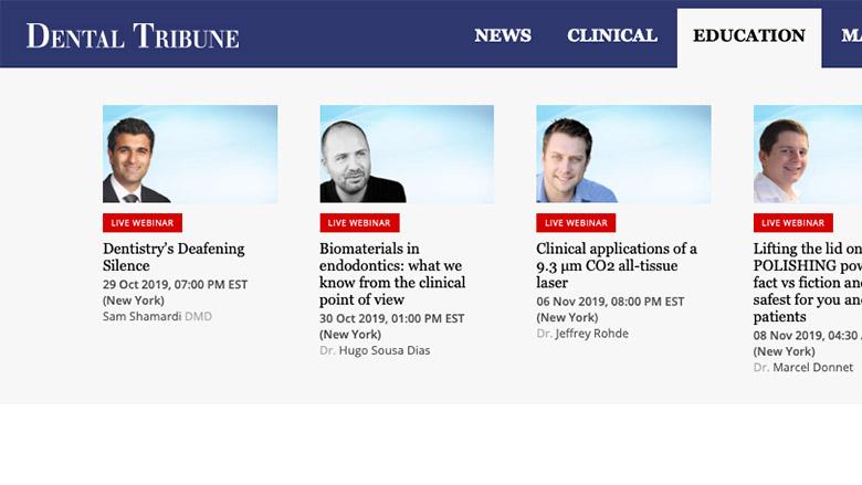 Dental Tribune Webinarer– Etterutdannelse når du har tid